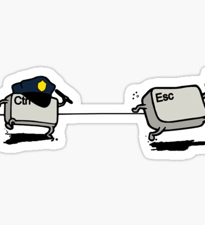 CTRL Police After ESC Sticker