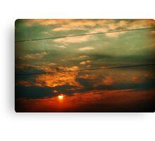 Segmented - Winter Sunset Canvas Print