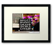 Age is of no importance Framed Print