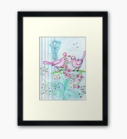 Springtime Birds Framed Print