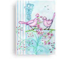 Springtime Birds Canvas Print