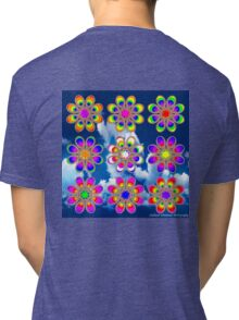 Over the Rainbow Foot Flowers Tri-blend T-Shirt