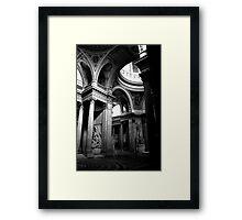 Pantheon interior in Paris in monochrome Framed Print