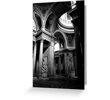 Pantheon interior in Paris in monochrome Greeting Card
