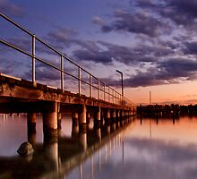 Sunset at the jetty by Donnalee