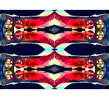Pink and Blue Psychedelic Photographic Print