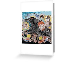 i go with crow Greeting Card
