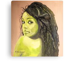 Green girl Canvas Print