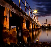 Sunset at the jetty 2 by Donnalee
