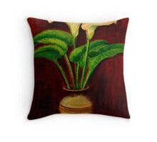 Araceae Throw Pillow