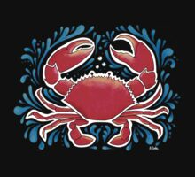 Red Crab  One Piece - Short Sleeve