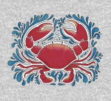 Red Crab  One Piece - Long Sleeve