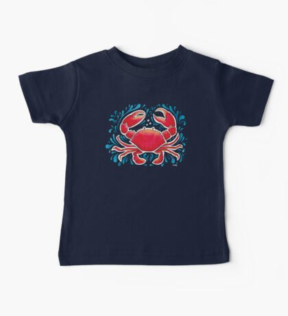 Red Crab  Baby Tee