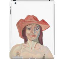 Red hat girl (single) iPad Case/Skin