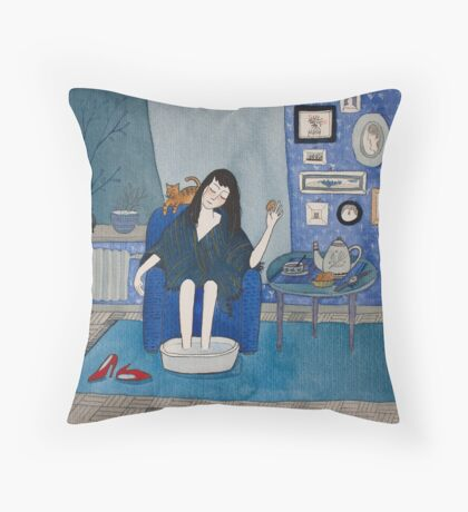 After the date Throw Pillow