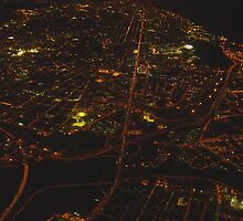 Barcelona  from above by night... by BaZZuKa