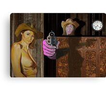 Wild West ( signed ) Canvas Print