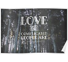 Love is not complicated Poster