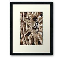 Muddy Wheels Are Happy Wheels Framed Print