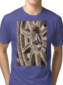 Muddy Wheels Are Happy Wheels Tri-blend T-Shirt