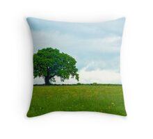 Single Tree - Glastonbury, United Kingdom Throw Pillow