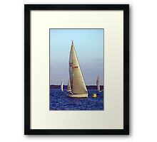 The race is on! Framed Print