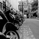 Vespa. London. Traffic. by RichardWalk