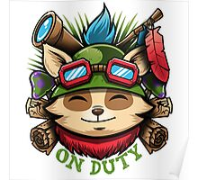 Captain Teemo on Duty! Poster