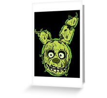 FNAF - Springtrap  Greeting Card