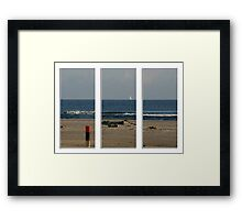 And the sea was divided Framed Print