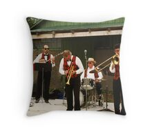 Trumpeter Takes A Bow Throw Pillow