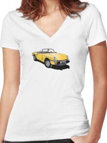 Triumph Spitfire Women's Fitted V-Neck T-Shirt