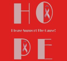 HOPE - Please Support the Cause Tee by Pam Moore