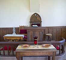 Altar, Sandtown Advent Christian Church, Lost Villages, Cornwall, Ontario by Mike Oxley