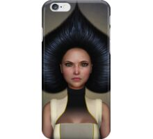 Queen of spades portrait iPhone Case/Skin