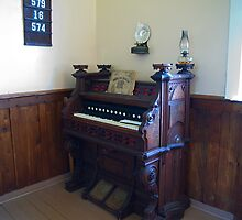 Organ, Sandtown Advent Christian Church, Lost Villages, Cornwall, Ontario by Mike Oxley