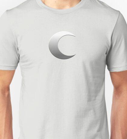 Silver Crescent Moon Unisex T-Shirt