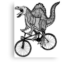 Spinosaurus Aztec Bicycle Canvas Print