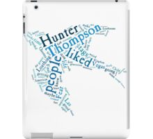 Words of Hunter S Thompson iPad Case/Skin