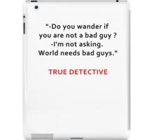 TRUE DETECTIVE BAD GUYS iPad Case/Skin