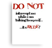 DO NOT! Metal Print