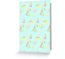 abstract retro Design  Greeting Card