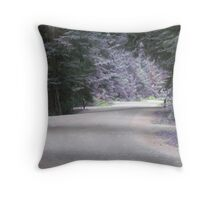 lavender road Throw Pillow