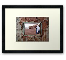 Looking Through the Window Framed Print