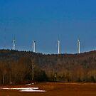 Mars Hill Wind Turbines by Brenda Dow