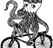 Octopus Love Bicycle  by toshibung