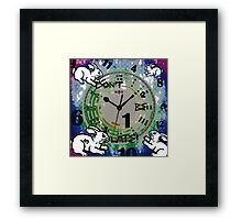 Don't be late! Framed Print