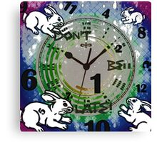 Don't be late! Canvas Print
