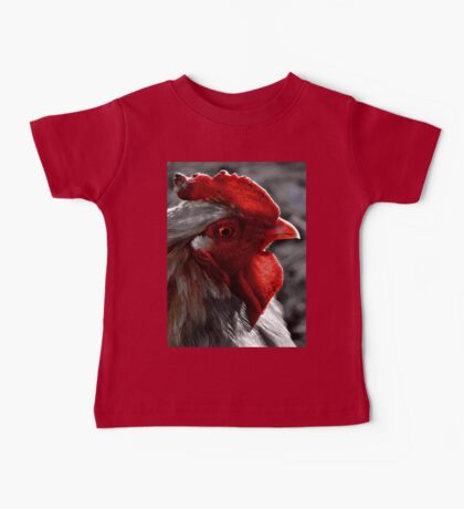 Red Rooster color select Baby Tee