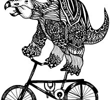 Triceratops on a Bike  by toshibung